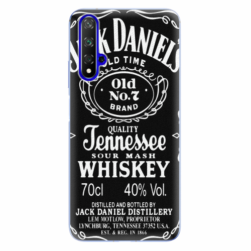 Silikonové pouzdro iSaprio - Jack Daniels - Huawei Honor 20