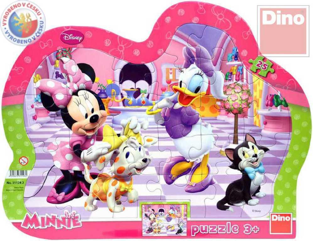 DINO Puzzle 25 dílků Minnie a mazlíčci