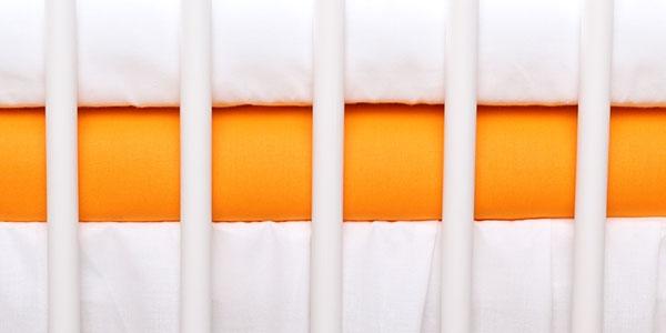 Jersey prostěradlo oranžové 120x60