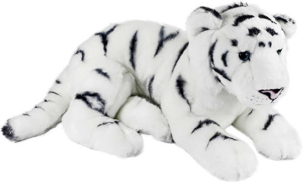 PLYŠ Tygr ležící bílý 41cm exkluzivní kolekce *PLYŠOVÉ HRAČKY*