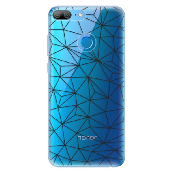 Odolné silikonové pouzdro iSaprio - Abstract Triangles 03 - black - Huawei Honor 9 Lite