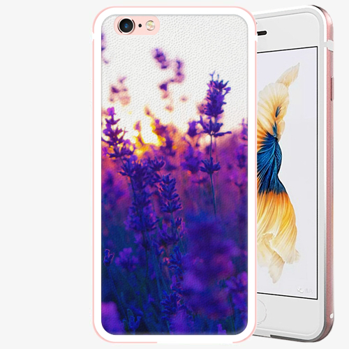 Plastový kryt iSaprio - Lavender Field - iPhone 6 Plus/6S Plus - Rose Gold