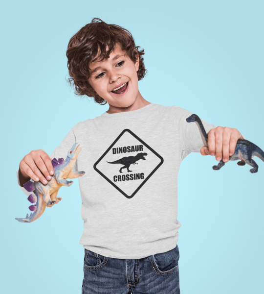 kidsbee-chlapecke-bavlnene-tricko-dinosaurus-sv-sede-98-24-36m