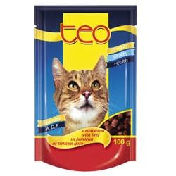 TEO kapsička kočka hovězí 100g