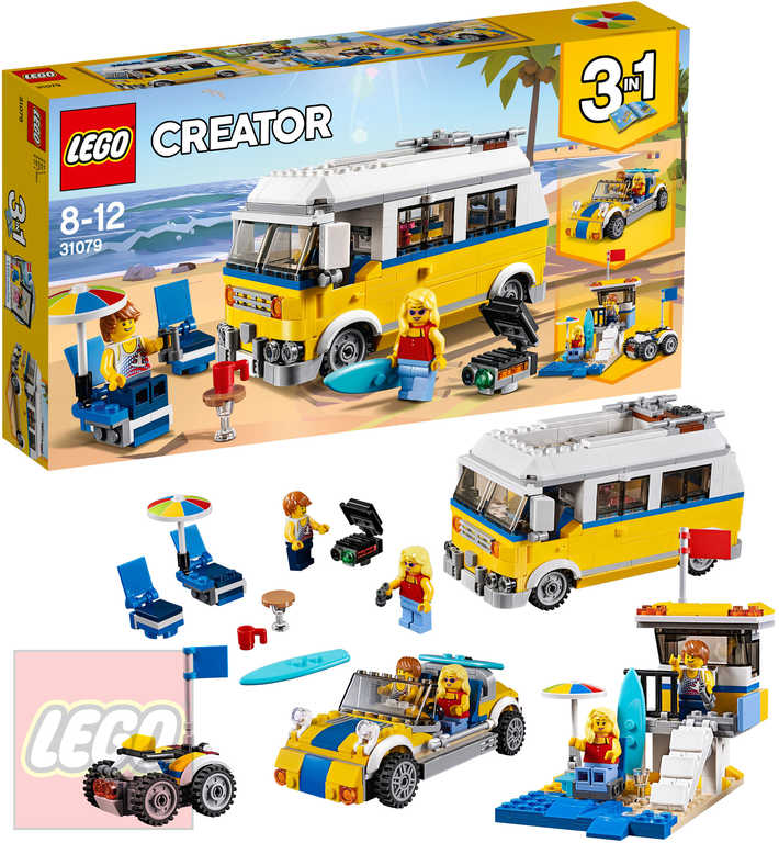 LEGO CREATOR Surfařská dodávka Sunshine 3v1 STAVEBNICE 31079