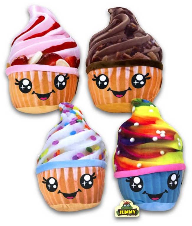 PLYŠ Zmrzlina cupcake v kornoutu 25cm různé druhy *PLYŠOVÉ HRAČKY*