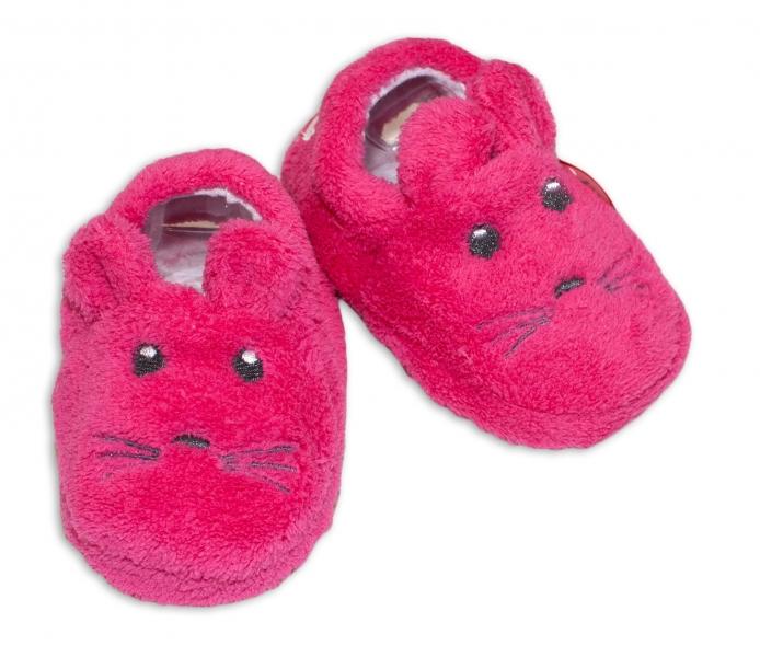 Botičky/capáčky/papučky 12-18m Risocks Myšička - růžová - 12/18měsíců