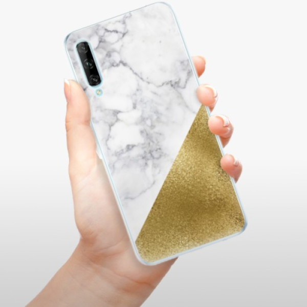 Odolné silikonové pouzdro iSaprio - Gold and WH Marble - Huawei P Smart Pro