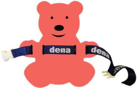MATUŠKA-DENA Pás plavecký medvídek 28x30cm červeno-fialový