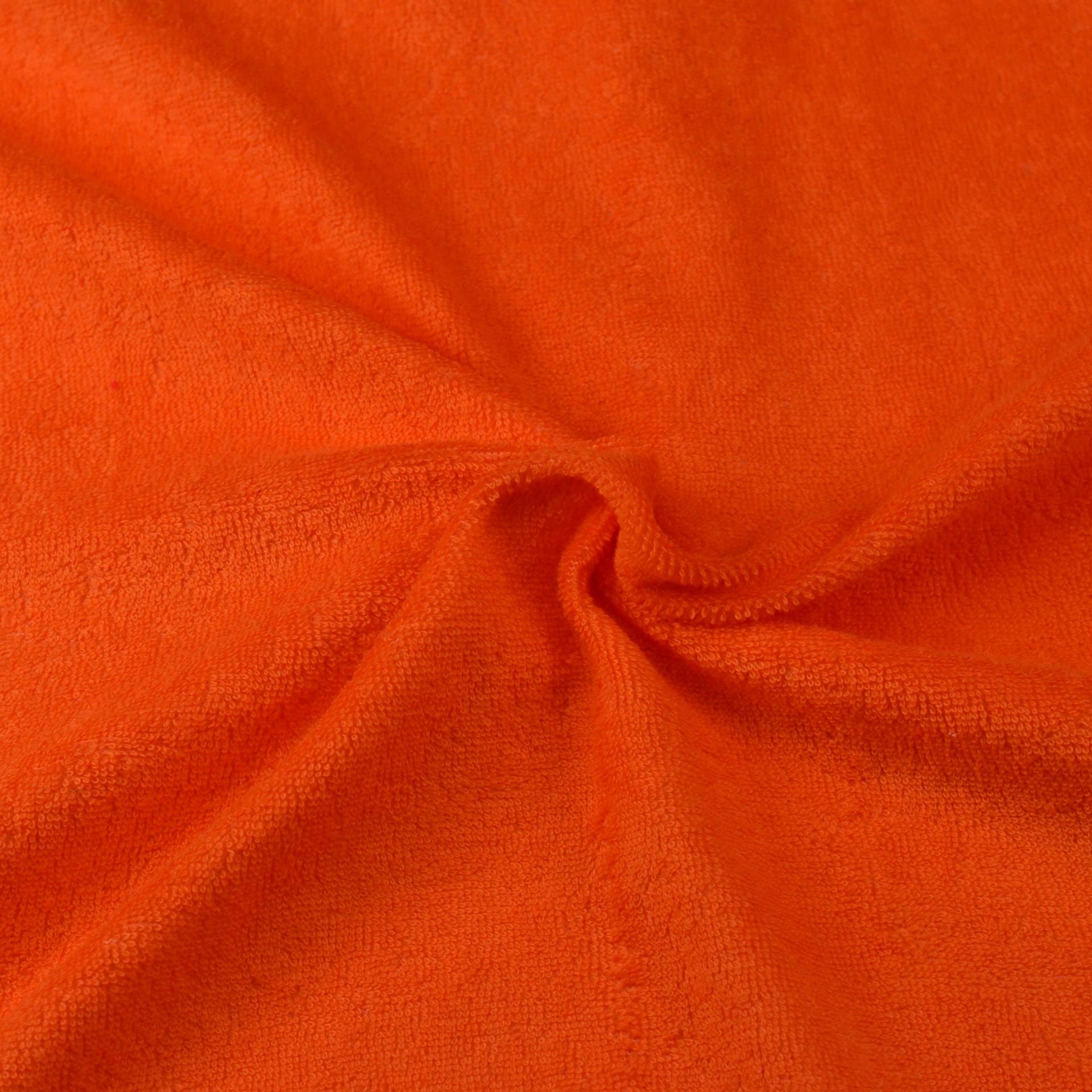 Froté prostěradlo oranžové, Výběr rozměru - 180x200cm