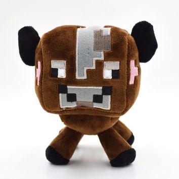Plyšák Minecraft hnědá kravička - 18 cm