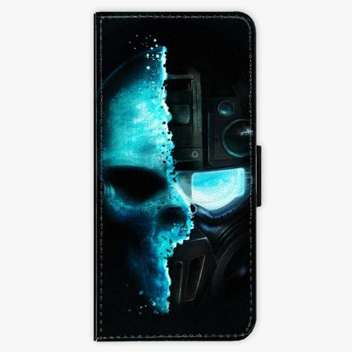 Flipové pouzdro iSaprio - Roboskull - Samsung Galaxy S8 Plus