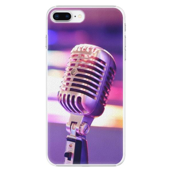 Plastové pouzdro iSaprio - Vintage Microphone - iPhone 8 Plus