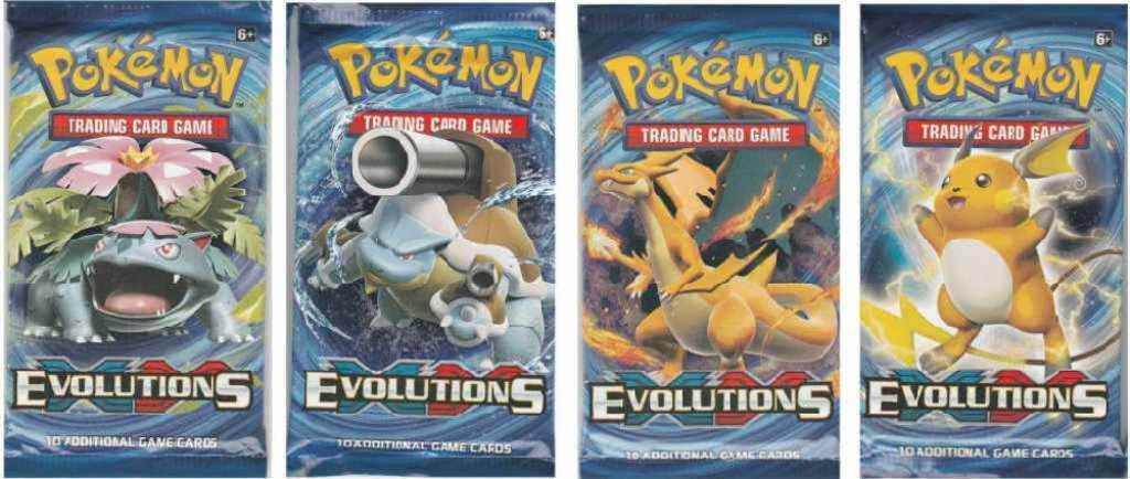 ADC HRA Karty doplňkové Pokémon XY12 Evolutions Booster set 10 náhodných karet