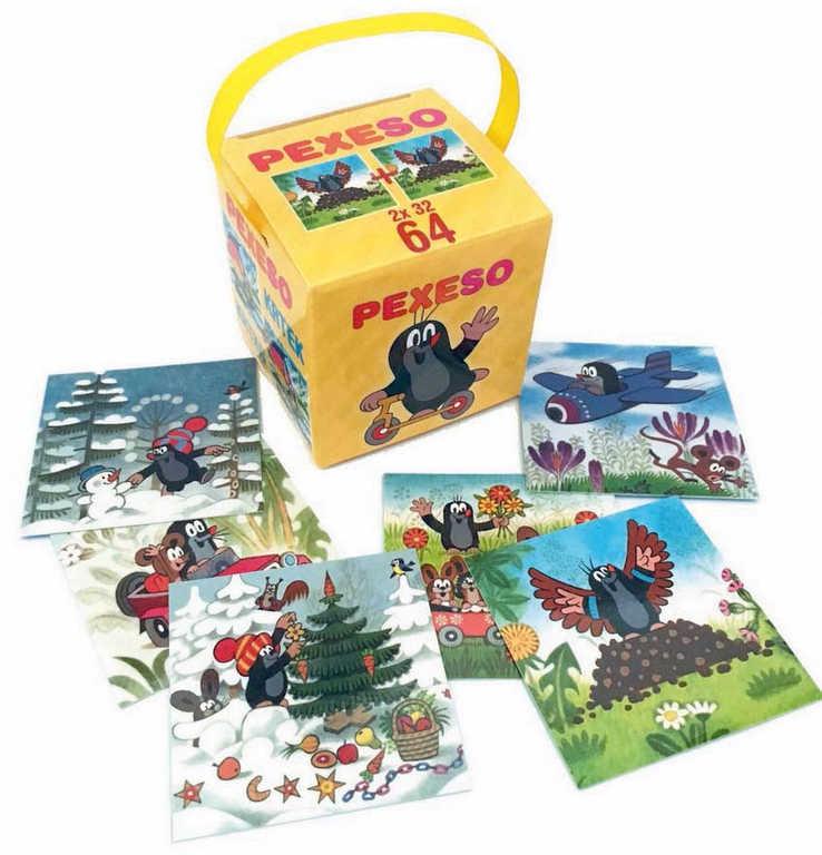 AKIM Hra Pexeso v krabičce se stuhou Krteček (Krtek) set 64 karet