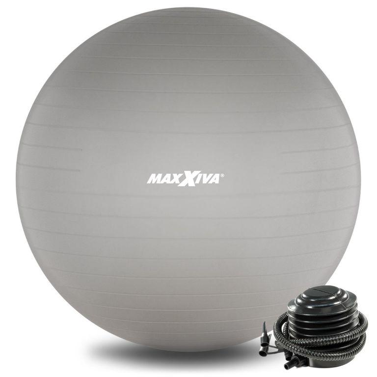 MAXXIVA Gymnastický míč Ø 85 cm s pumpičkou, stříbrný