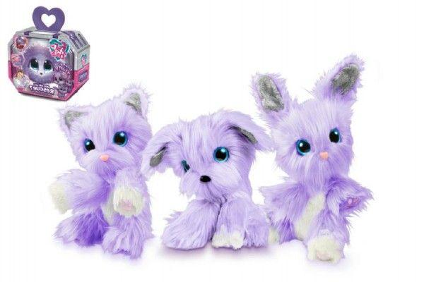 Zvířátko FUR BALLS plyš Touláček VIOLET pejsek/kočka/králík fialový s doplňky v krabici 24