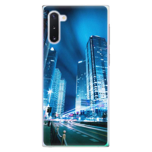Plastové pouzdro iSaprio - Night City Blue - Samsung Galaxy Note 10