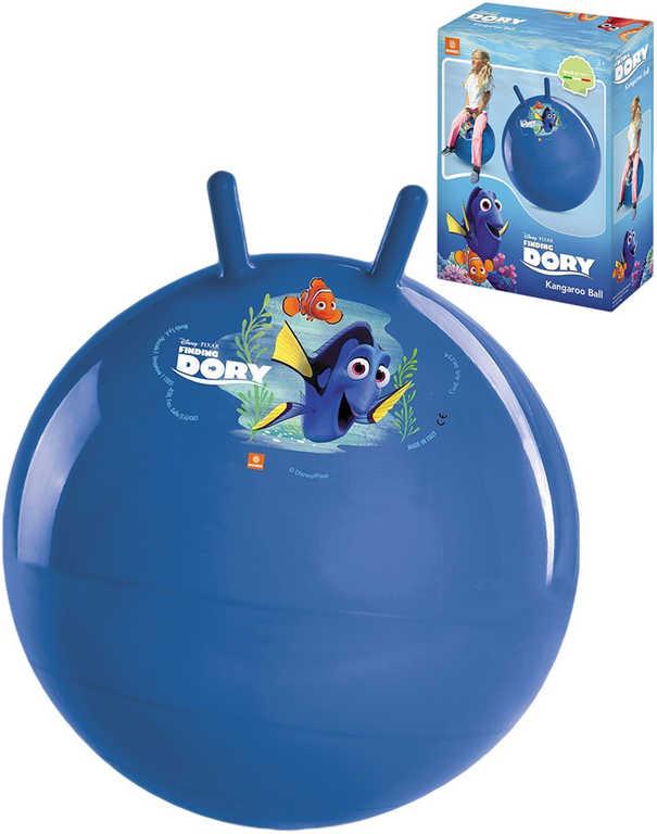 Míč dětský skákací Hledá se Dory 45cm hopsadlo s držadly modré