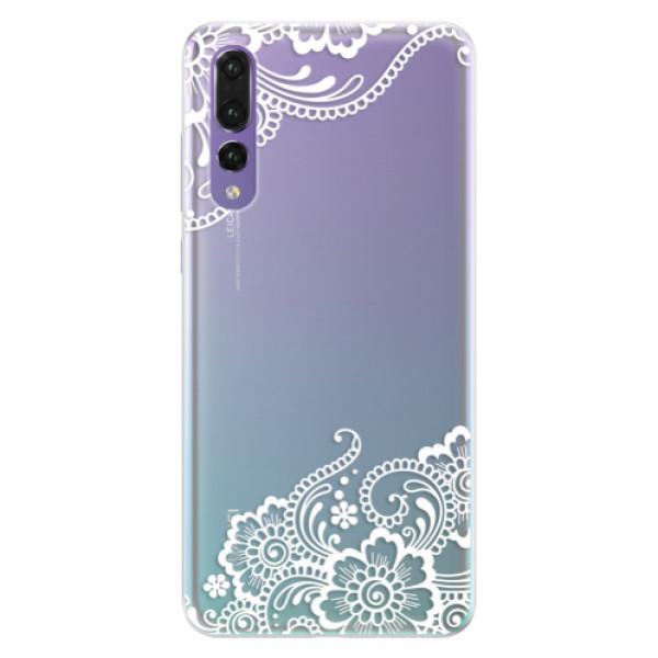 Silikonové pouzdro iSaprio - White Lace 02 - Huawei P20 Pro