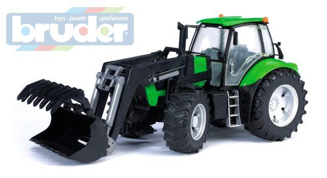BRUDER 03081 (3081) Traktor Deutz Agrotron s čelním nakladačem