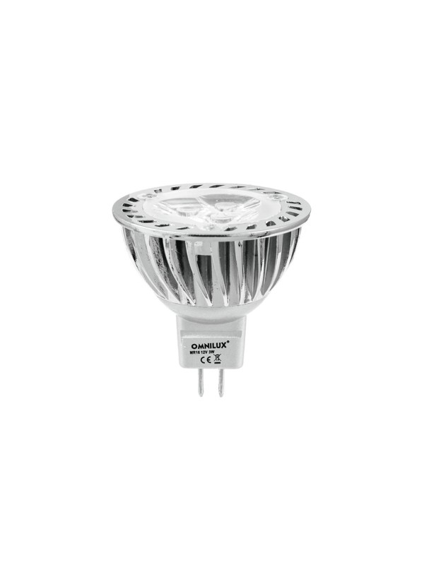 12V MR-16 GU-5.3 Omnilux, 3x1W LED žlutá