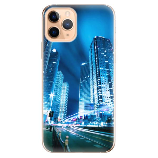 Odolné silikonové pouzdro iSaprio - Night City Blue - iPhone 11 Pro