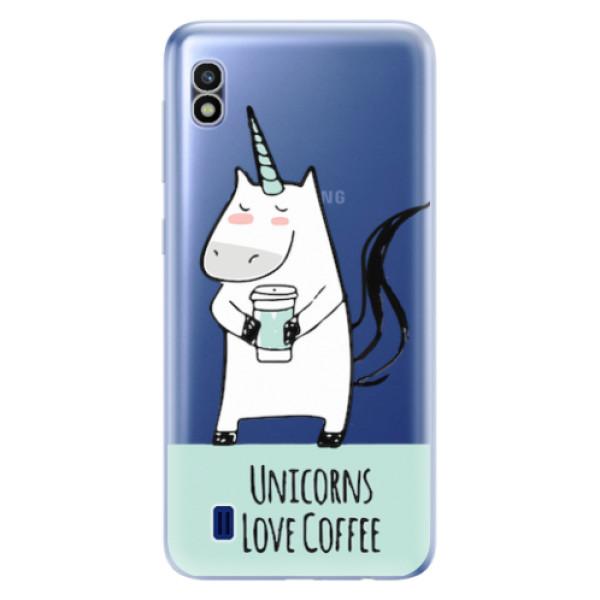 Odolné silikonové pouzdro iSaprio - Unicorns Love Coffee - Samsung Galaxy A10