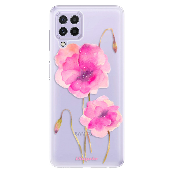 Odolné silikonové pouzdro iSaprio - Poppies 02 - Samsung Galaxy A22