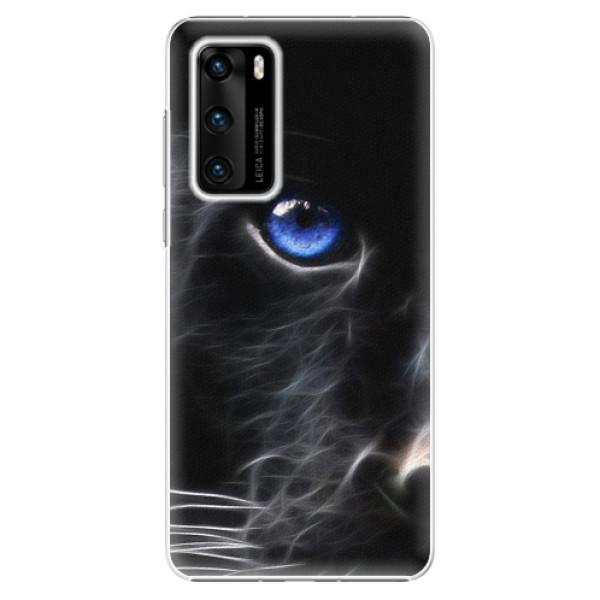 Plastové pouzdro iSaprio - Black Puma - Huawei P40