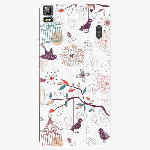 Plastový kryt iSaprio - Birds - Lenovo A7000