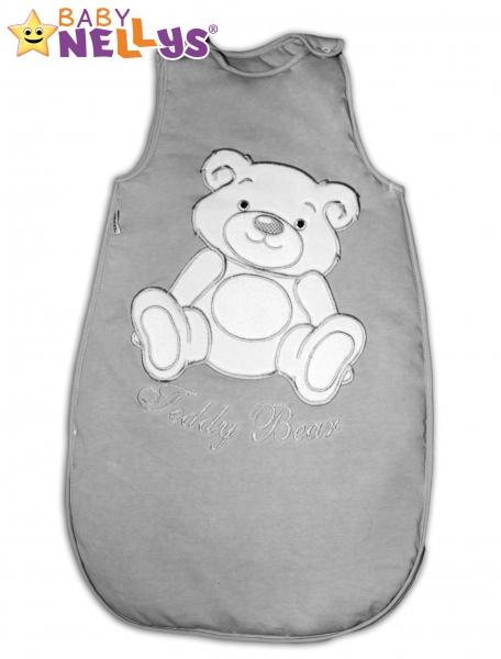 Spací vak Teddy Bear, Baby Nellys - šedá vel. 1