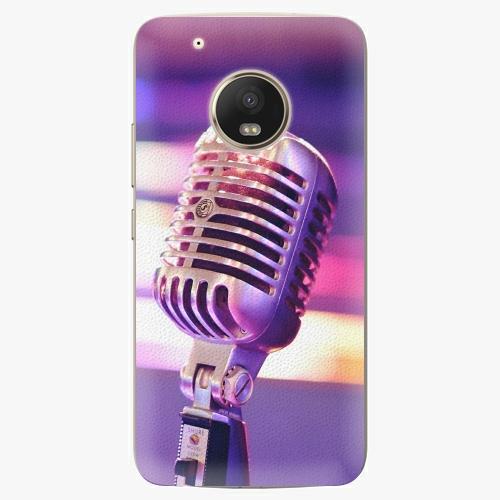 Plastový kryt iSaprio - Vintage Microphone - Lenovo Moto G5 Plus