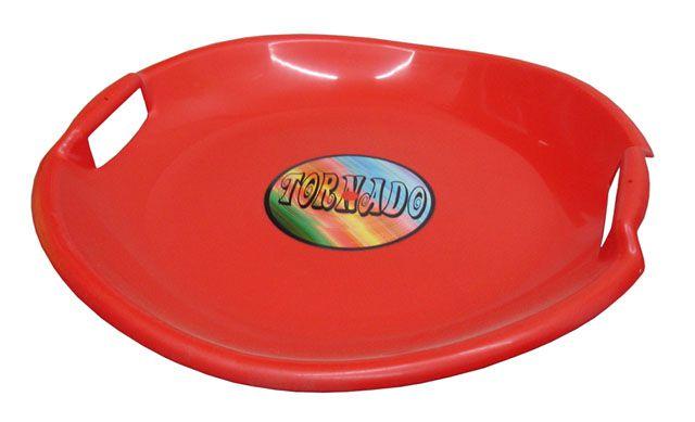 Tornádo talíř sáňkovací - červený