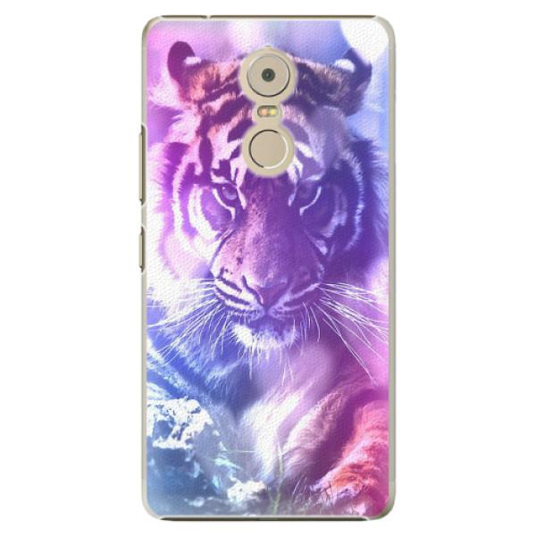 Plastové pouzdro iSaprio - Purple Tiger - Lenovo K6 Note