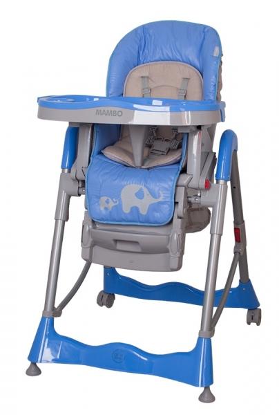 Jídelní židlička Coto Baby Mambo 2017 Blue - Sloníci