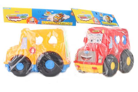 Vkládačka auto 2 barvy