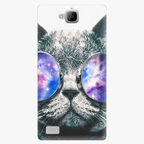 Plastový kryt iSaprio - Galaxy Cat - Huawei Honor 3C