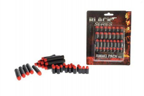 Náhradní pěnové náboje do pistole 30ks na kartě 14x18x4cm Black Series