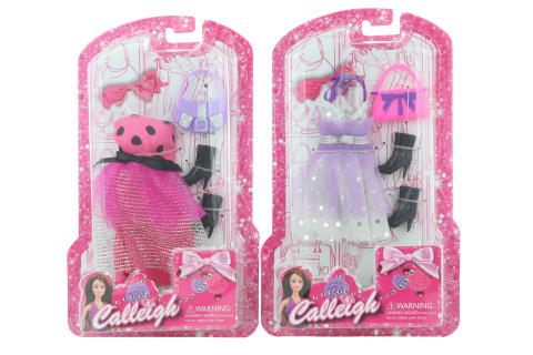 Šaty na panenku s doplňky