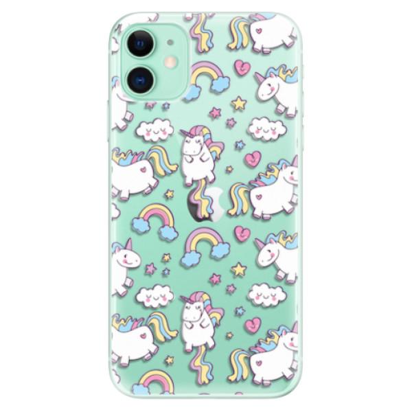 Odolné silikonové pouzdro iSaprio - Unicorn pattern 02 - iPhone 11