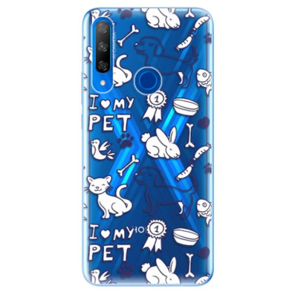 Odolné silikonové pouzdro iSaprio - Love my pets - Huawei Honor 9X