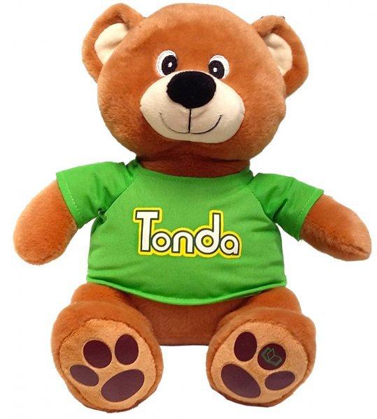 MAC TOYS Pohádkový medvídek TONDA v triku na baterie se Zvukem CZ Plyš