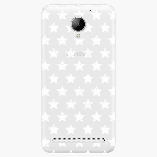 Plastový kryt iSaprio - Stars Pattern - white - Lenovo C2