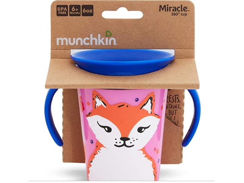 Munchkin - Juniorský hrneček WildLove 360° s oušky 177 ml - liška