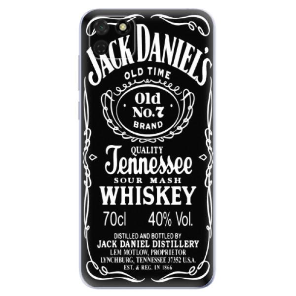 Odolné silikonové pouzdro iSaprio - Jack Daniels - Huawei Y5p