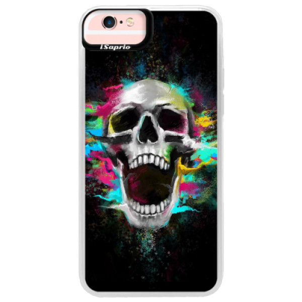 Neonové pouzdro Pink iSaprio - Skull in Colors - iPhone 6 Plus/6S Plus