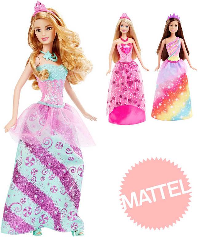 MATTEL BRB Panenka princezna Barbie 29cm set se střevíčky 3 druhy
