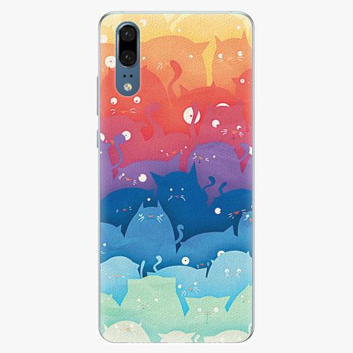Silikonové pouzdro iSaprio - Cats World - Huawei P20