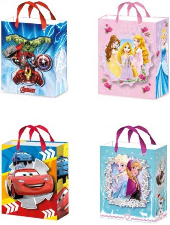 Taška dětská dárková 27x32cm Disney motivy 4 druhy papír